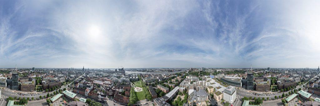 Ausblick vom Hamburger Michel 360 Grad