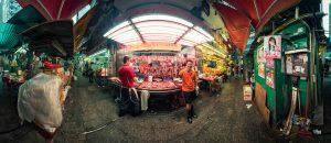 Butcher Streetmarket in Hongkong by Tobi Bohn Panorama 360 Fotograf