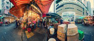 Tourists Wanchai Streetmarket in Hongkong by Tobi Bohn Panorama 360 Fotograf