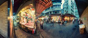 Locals shopping Wanchai Streetmarket in Hongkong by Tobi Bohn Panorama 360 Fotograf