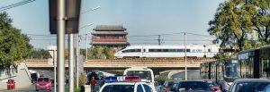 Strasse Zug und Tempel in Beijing by Tobi Bohn Panorama 360 Fotograf