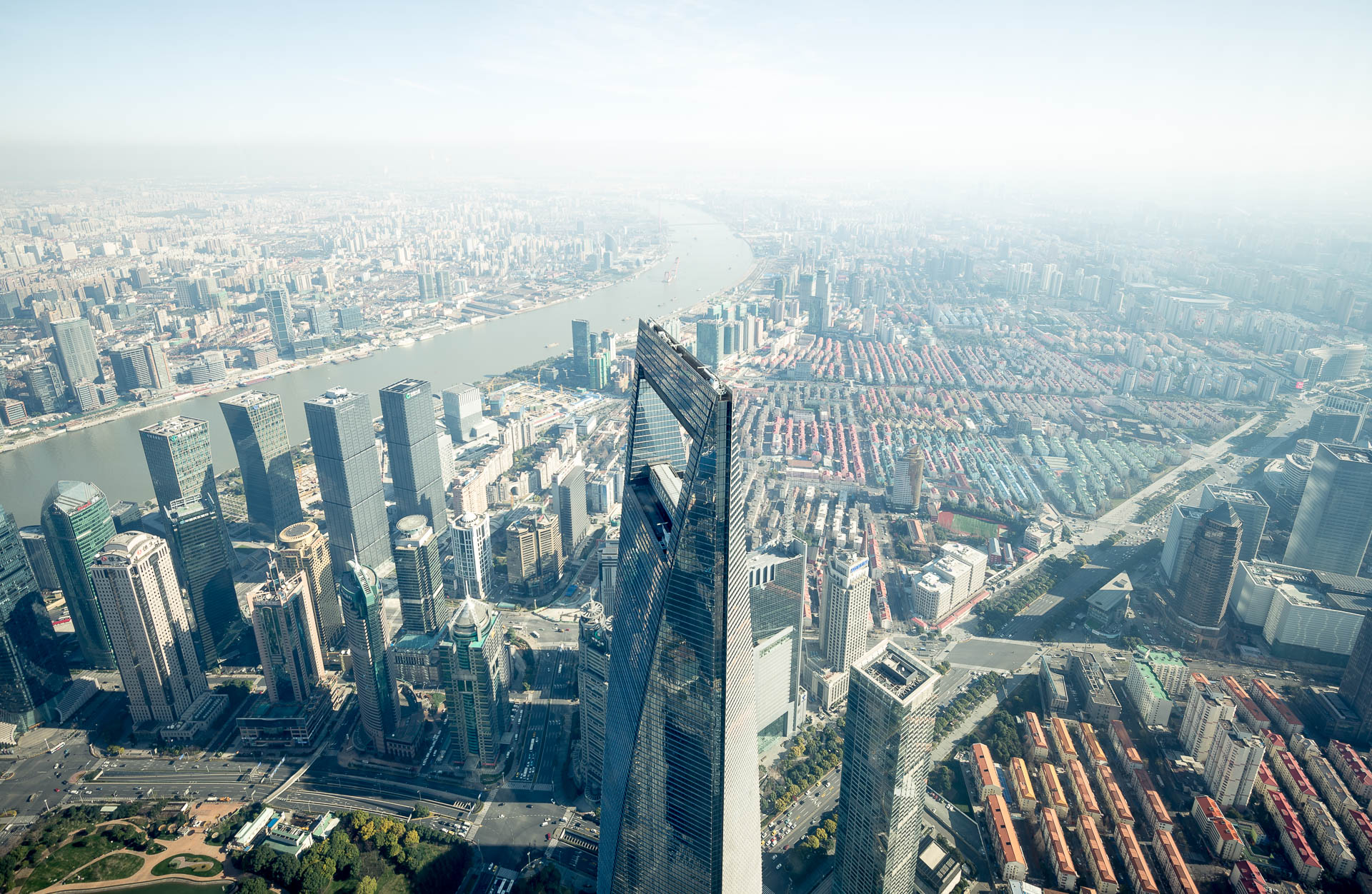 Shanghai World Financial Center from above