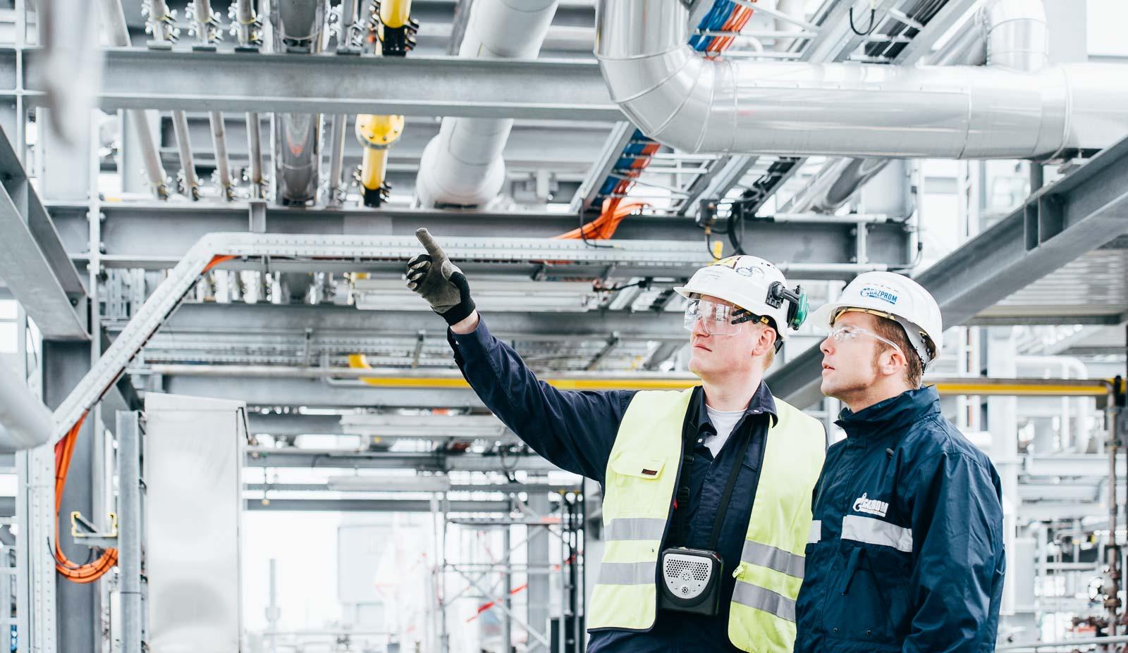 Sicherheitsinspektion im Gaswerk – Industriefoto