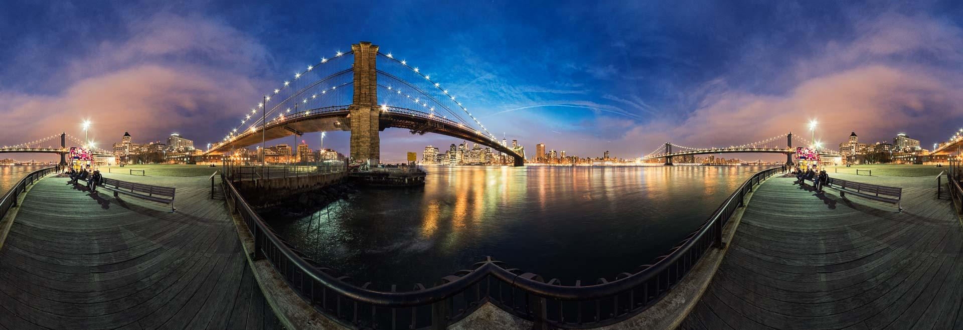 NYC New York Brooklyn Bridge – 360° Foto