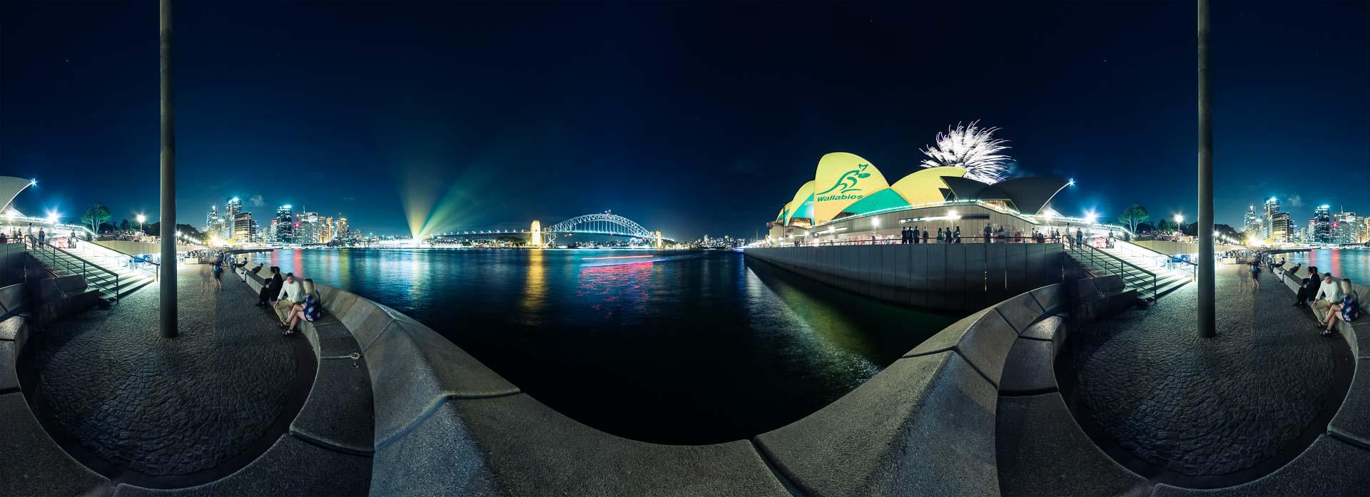 Sydney Skyline bei Nacht – 360° Foto