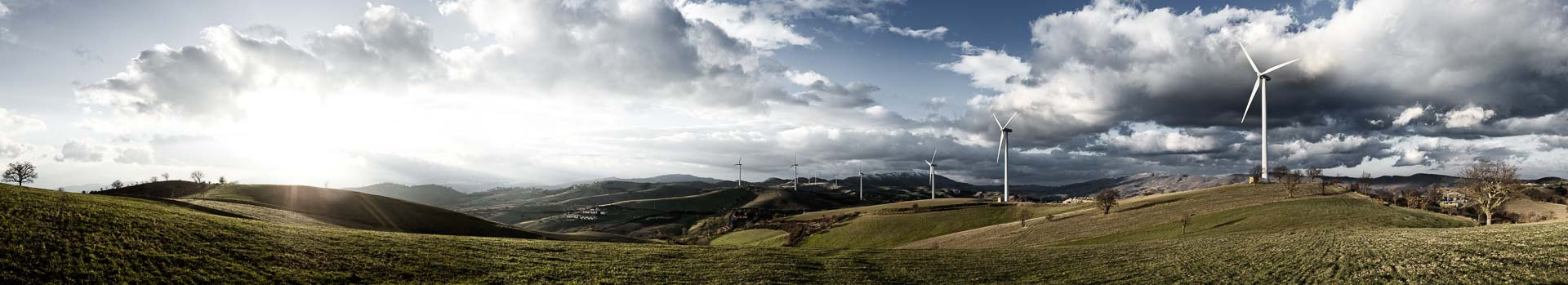 Sonnenaufgang Windräder – 360° Foto