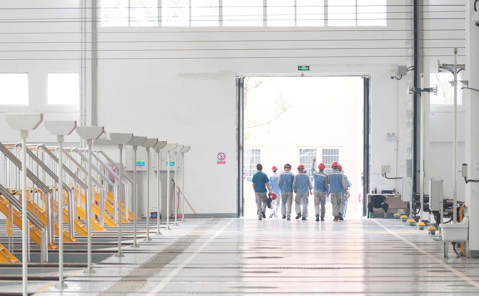 Feierabend im chinesischen Metro-Depot – Industriefoto