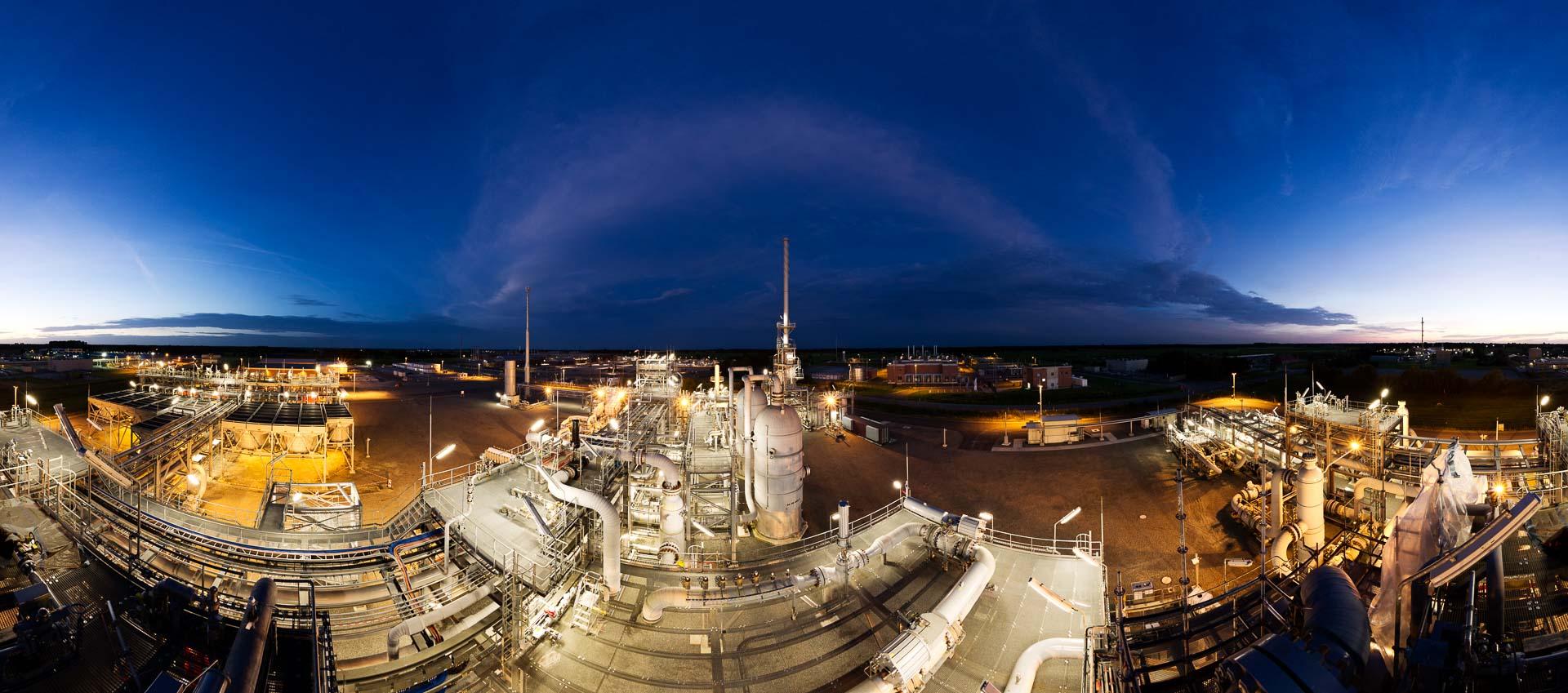 Gas Industrie blaue Stunde – 360° Foto