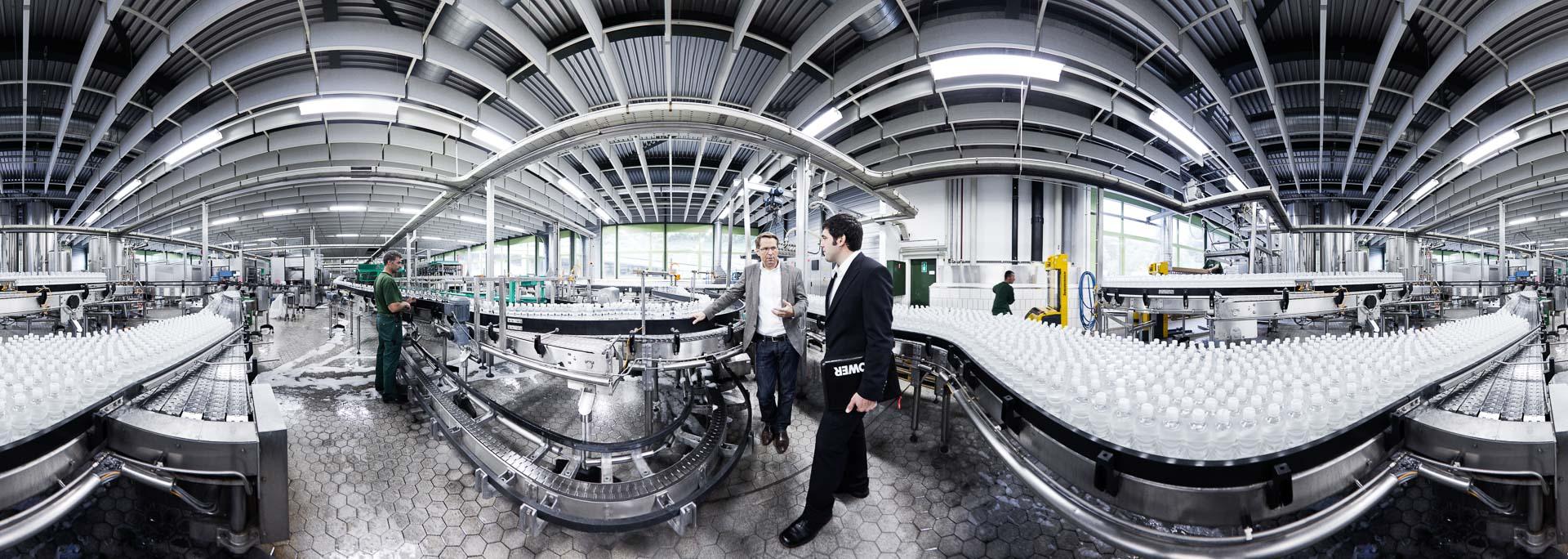 Mineralwasser Fabrik Abfüllung Schweiz – 360° Foto