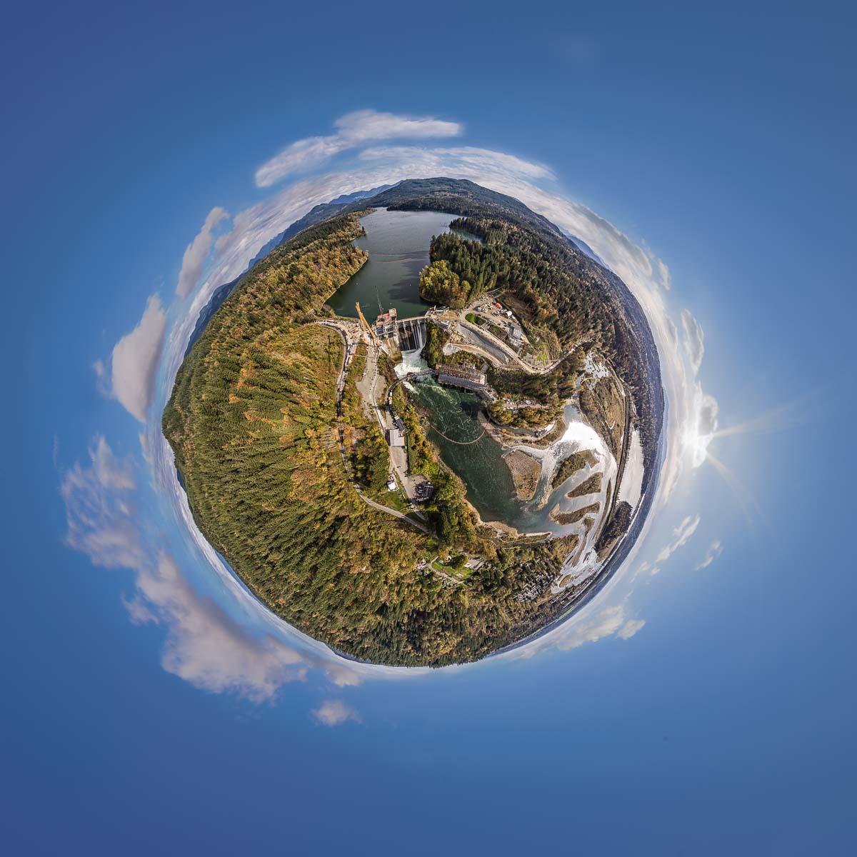 Staudamm Kanada – 360° Foto