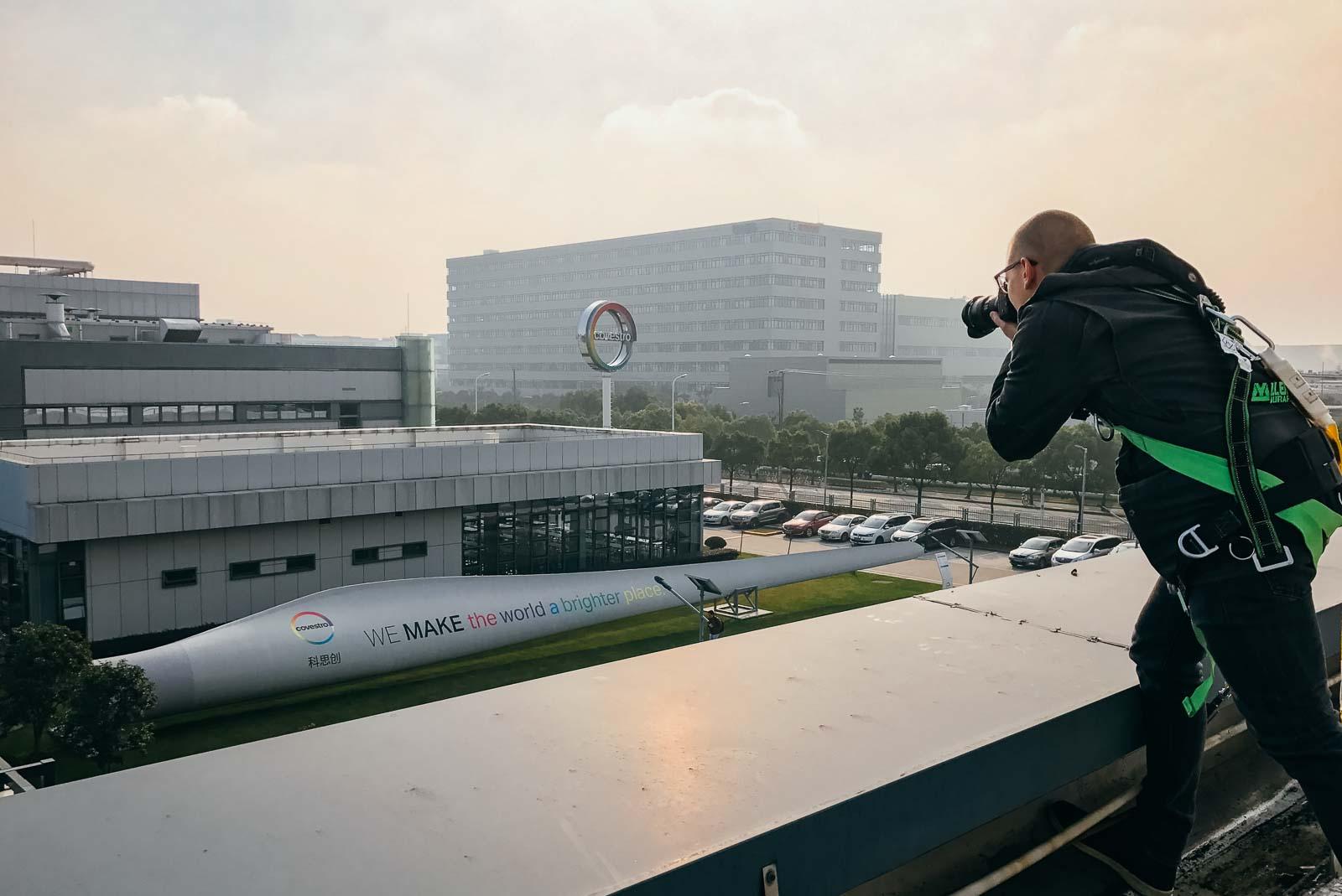 Industrie Fotograf Deutschland Shanghai Foto Dunst Fog