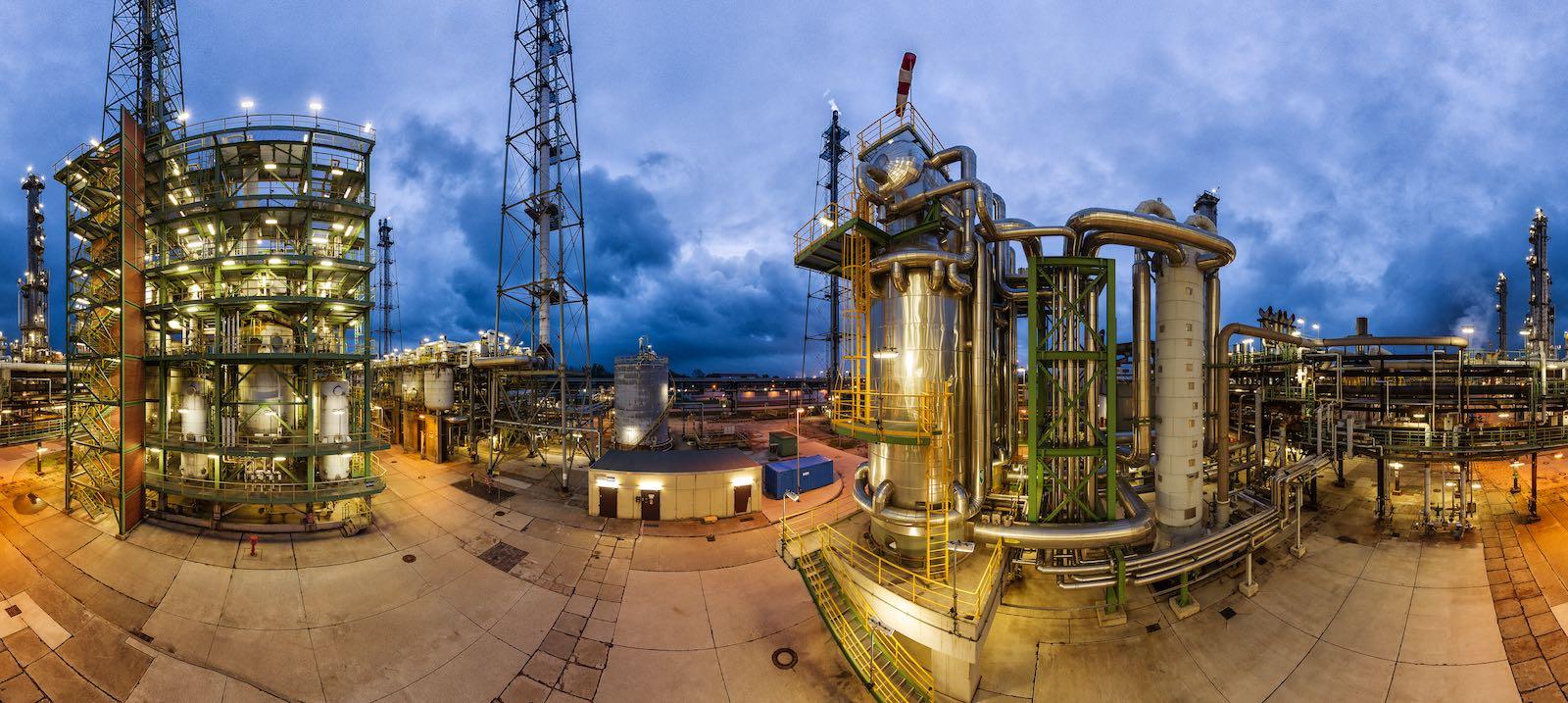 POX Methanol Anlage Panoramafoto für Geschäftsbericht