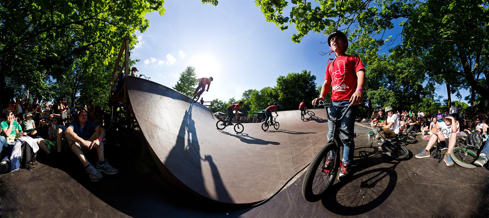 Panorama Mellowpark Berlin BMX Rampe