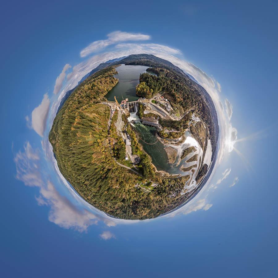 Little Planet Ruskin Dam Vancouver